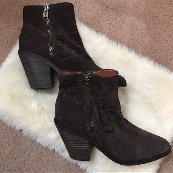 Lucky Brand Brown Suede Ramses Bootie